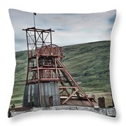 Big Pit Colliery Throw Pillow