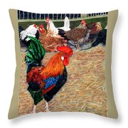 Big Red And The Girls Throw Pillow