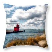 Big Red Big Wind Throw Pillow