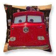 Big Red Carsland Throw Pillow