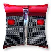 Big Red Fire Truck Throw Pillow