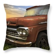 Big Red Ford Throw Pillow