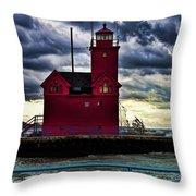 Big Red Holland Michigan Throw Pillow