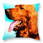Big Red - Irish Setter Dog Art By Sharon Cummings Throw Pillow by Sharon Cummings