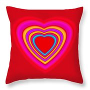 Big Red Love Throw Pillow