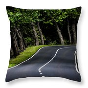Big  Road Throw Pillow