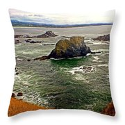 Big Rock Beach Throw Pillow