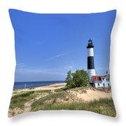 Big Sable Point Light Throw Pillow