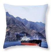 Big Ship Non Atlantic Ocean Throw Pillow