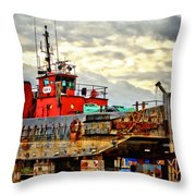 Big Ship Rising Throw Pillow