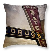 Big State Drugs Irving Throw Pillow