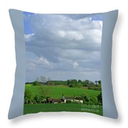 Big Suffolk Sky Throw Pillow