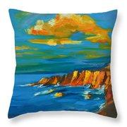 Big Sur At The West Coast Of California Throw Pillow by Patricia Awapara