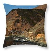 Big Sur Bridge Throw Pillow