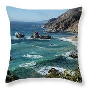 Big Sur Coast From Julia Pfeiffer Burns Throw Pillow