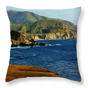 Big Sur Coastline Throw Pillow by Benjamin Yeager