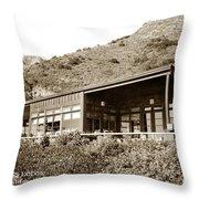 Big Sur Hot Springs Now The Esalen Institute California Circa 1961 Throw Pillow