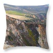 Big Sur Panorama Throw Pillow