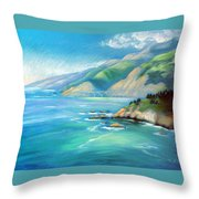Big Sur Serenity Throw Pillow