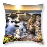 Big Sur Sunset Throw Pillow by Shawn Everhart