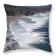 Big Sur Surf Throw Pillow