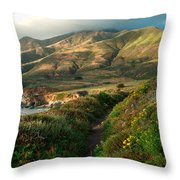 Big Sur Trail At Soberanes Point Throw Pillow