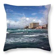 Big Surf Waikiki Throw Pillow