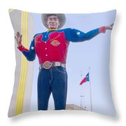 Big Tex And The Cotton Bowl  Throw Pillow