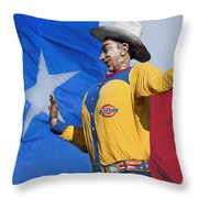 Big Tex And The Lone Star Flag Throw Pillow