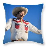 Big Tex - State Fair Of Texas - No. 2 By D. Perry Lawrence Throw Pillow