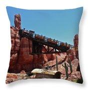 Big Thunder Mountain Walt Disney World Throw Pillow