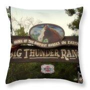 Big Thunder Ranch Signage Frontierland Disneyland Throw Pillow