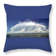 Big Thunderstorm Over The Bay Throw Pillow