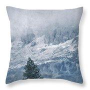 Big Tree At The Mountains Throw Pillow