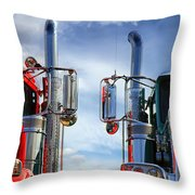 Big Trucks Throw Pillow
