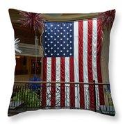 Big Usa Flag 1 Throw Pillow