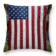 Big Usa Flag 2 Throw Pillow