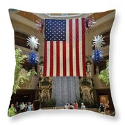 Big Usa Flag 3 Throw Pillow