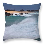 Big Wave Waterscape  Throw Pillow