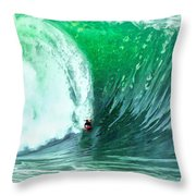 Big Wednesday At The Wedge Throw Pillow