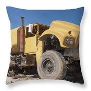 Big Wheels Not Rollin Water Truck Throw Pillow