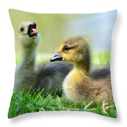 Big Yawn Throw Pillow by Kathleen Struckle