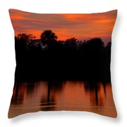 Big Cypress Sunset Throw Pillow