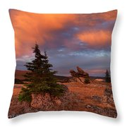 Bighorn Mountains Sunrise Throw Pillow