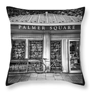 Bike At Palmer Square Book Store In Princeton Throw Pillow
