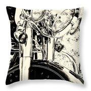 Bike II Throw Pillow