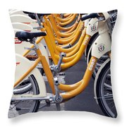 Bike Mi Comune Di Milano Italia Throw Pillow