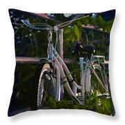 Bike Noir Throw Pillow