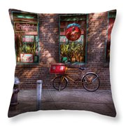 Bike - Ny - Chelsea - The Delivery Bike Throw Pillow