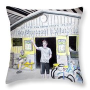 Bike Pittsburgh Throw Pillow